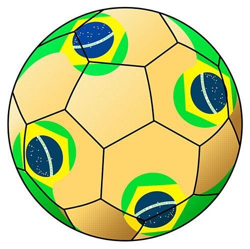 Brazil Football Stickers - 5cm - Sheet of 15