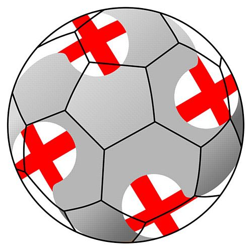 England Football Stickers - 5cm - Sheet of 15