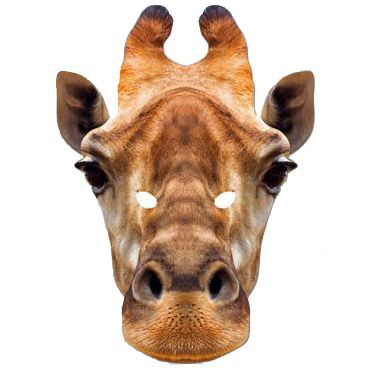 Giraffe Card Mask