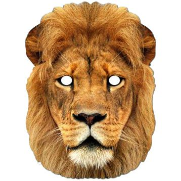 Lion Card Mask
