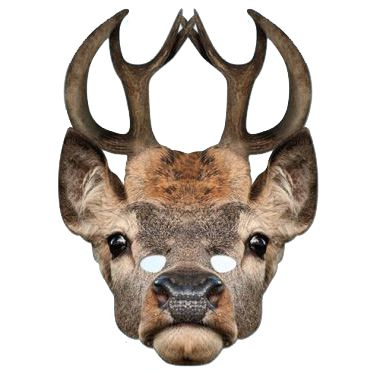 Stag Card Mask