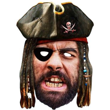 Pirate Historical Card Mask