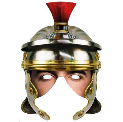 Roman Helmet Face Card Mask