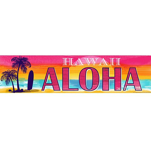 Tropical Sunset Banner - 120cm x 30cm