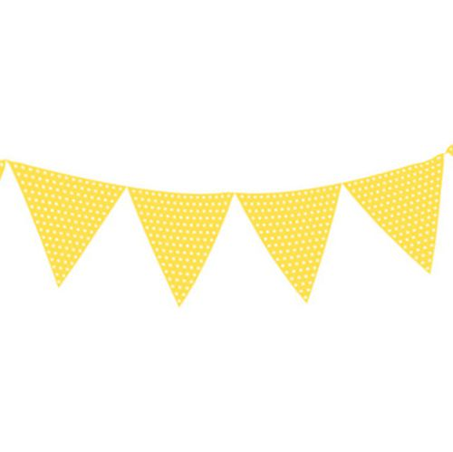 Light Yellow Polka Dot Paper Bunting - 2.7m