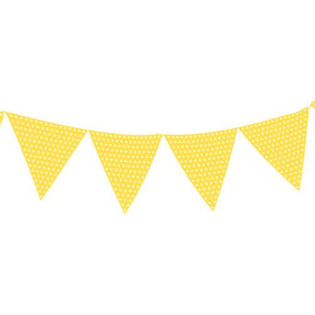 Click to view product details and reviews for Light Yellow Polka Dot Paper Bunting 27m.