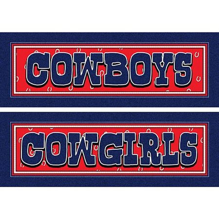 Click to view product details and reviews for Wild West Party Toilet Signs Cowboys Cowgirls.