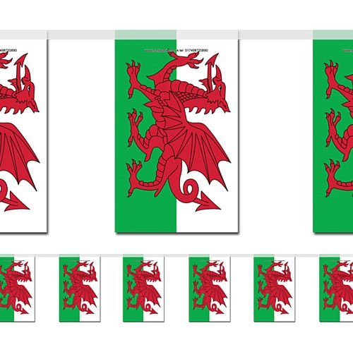 Welsh Large Flag Bunting 4m