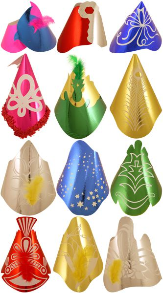 Click to view product details and reviews for Foil Hats 12 Assorted Pack Of 50.