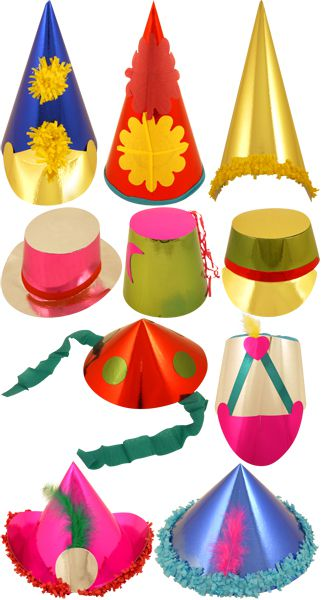 Carnival Hats - 10 Assorted Styles - 16-33cm - Pack of 50