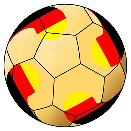 Germany Football Stickers - 5cm - Sheet of 15