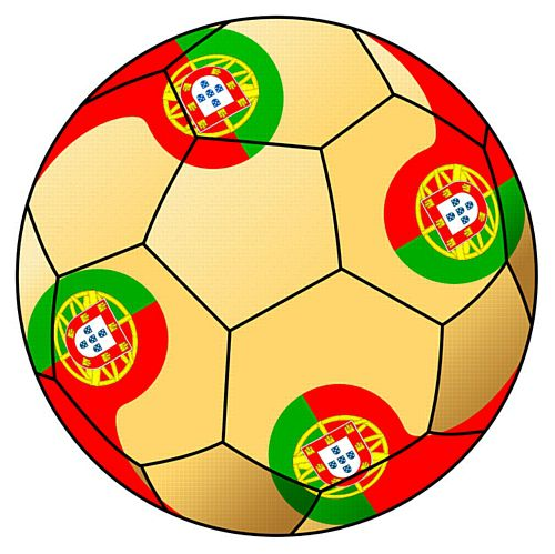 Portugal Football Stickers - 5cm - Sheet of 15