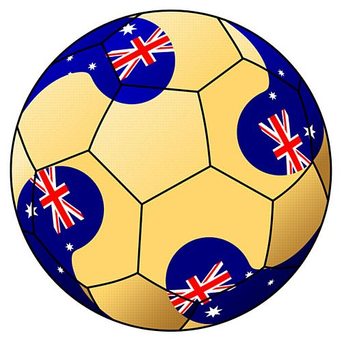 Australia Football Stickers - 5cm - Sheet of 15
