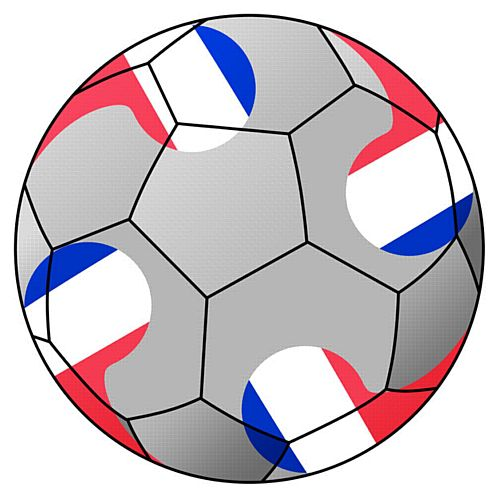 France Football Stickers - 5cm - Sheet of 15