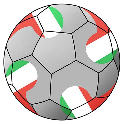 Italy Football Stickers - 5cm - Sheet of 15
