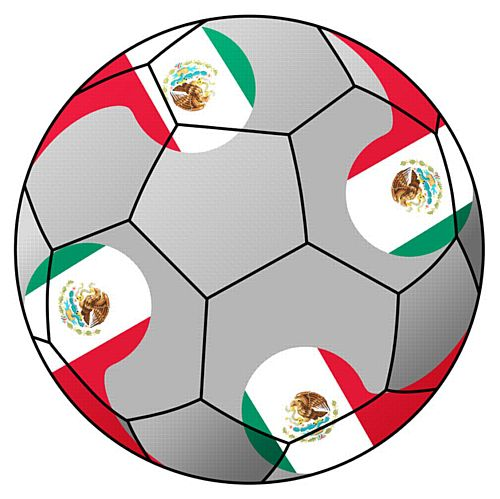 Mexico Football Stickers - 5cm - Sheet of 15