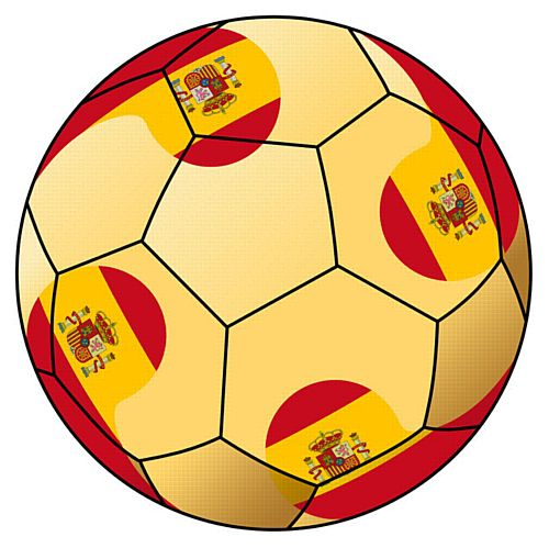Spain Football Stickers - 5cm - Sheet of 15