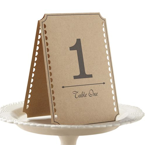 Vintage Affair Brown Kraft Table Numbers - 15.5cm - Pack of 12