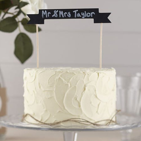 Click to view product details and reviews for Vintage Affair Wooden Chalkboard Cake Banner 17cm.