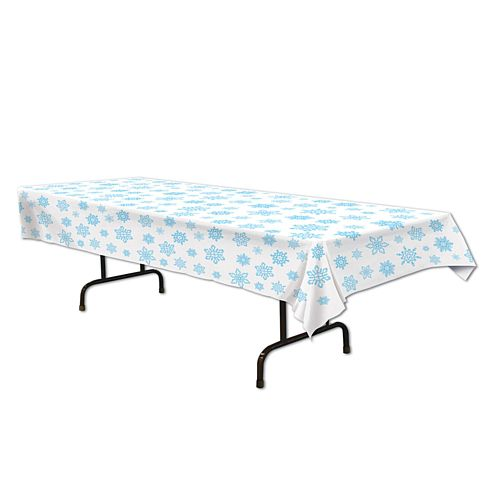 Plastic Snowflake Tablecloth - 2.74m