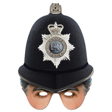 Policeman Card Half Mask