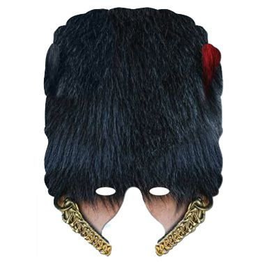 Coldstream Guard Bearskin Card Half Mask