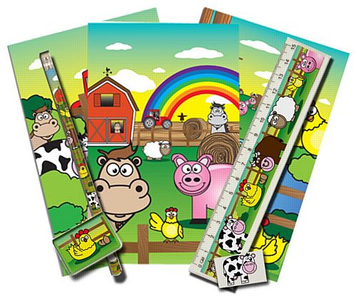 Farm Themed Stationary Set - 5 Pieces