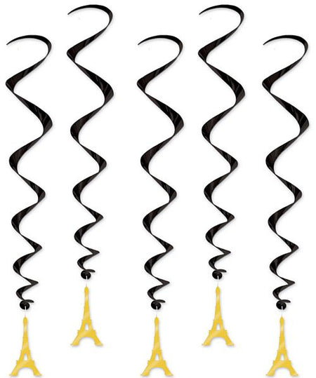 Eiffel Tower Whirls - Pack of 5