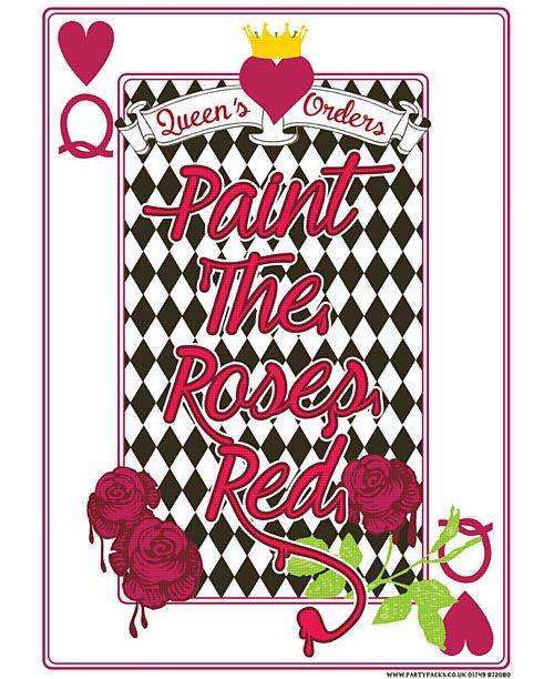 Wonderland 'Paint the Roses Red' Poster - A3