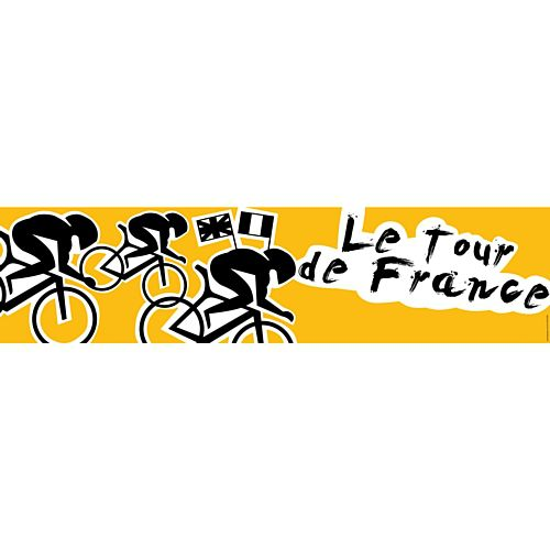 Tour De France Themed Banner - 1.2m