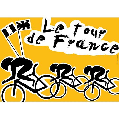 Tour de France Themed Poster - A3