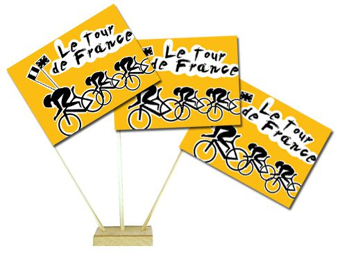 "Tour de France Table Flag 6"" on 10"" Pole"