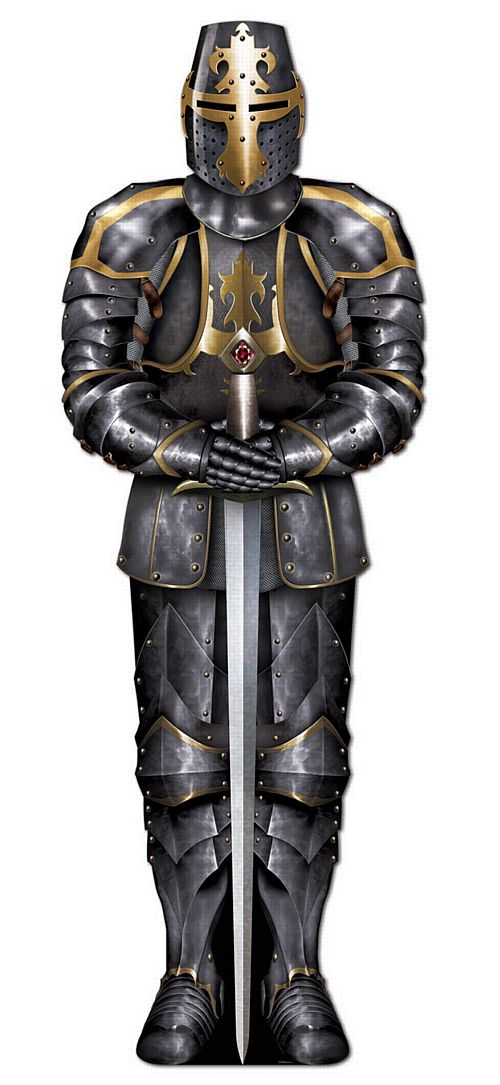 Black Knight Jointed Cutout Wall Decoration - 1.82m