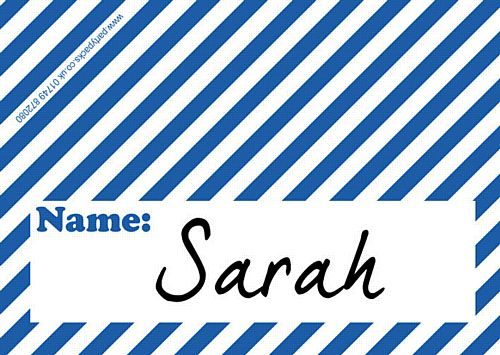 Stripe Blue Placecards - Pack of 8