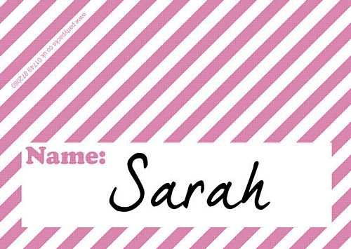 Stripe Pink Placecards - Pack of 8