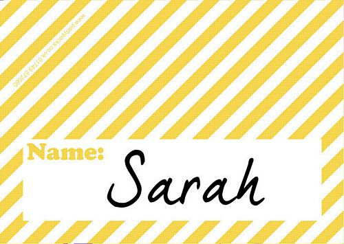 Stripe Yellow Placecards - Pack of 8