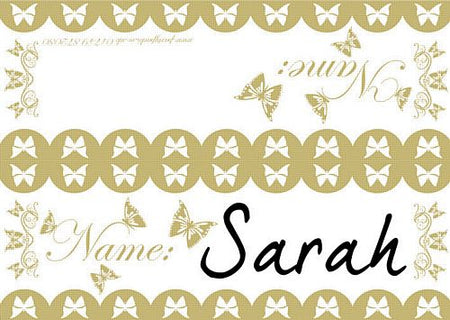 Butterfly Placecards - Pack of 8