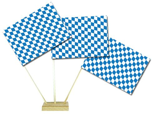 "Bavarian Table Flags 6"" on 10"" Pole"