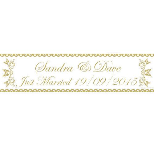 Gold Butterfly Personalised Banner - 1.2m