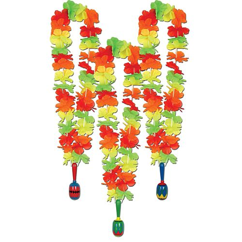 Mexican Fiesta Lei with Maraca - 91.4cm