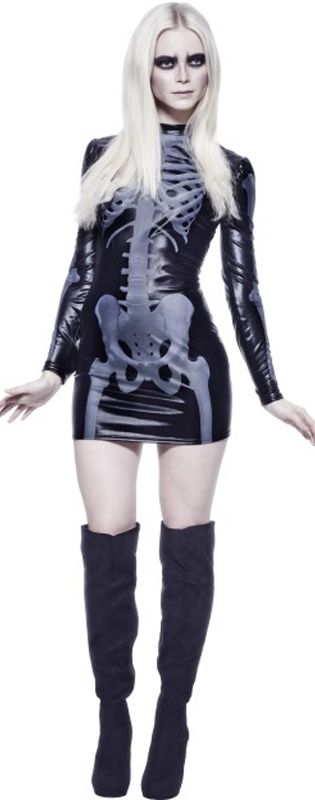 Fever Miss Whiplash Skeleton Dress Costume