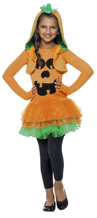 Girl's Pumpkin Tutu Dress