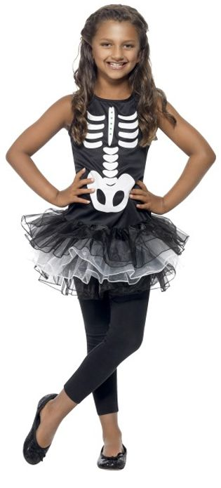 Children's Skeleton Tutu Dress