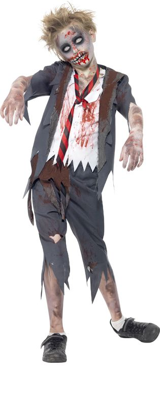 Click to view product details and reviews for Childs Zombie School Boy Costume.