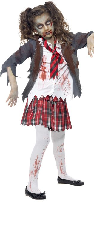Child's Zombie School Girl Costume