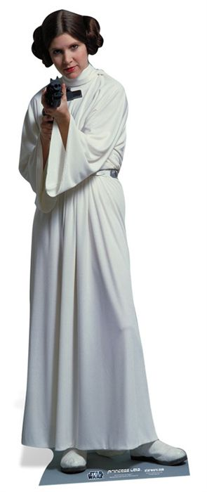 Star Wars Princess Leia Lifesize Cardboard Cutout - 1.59m