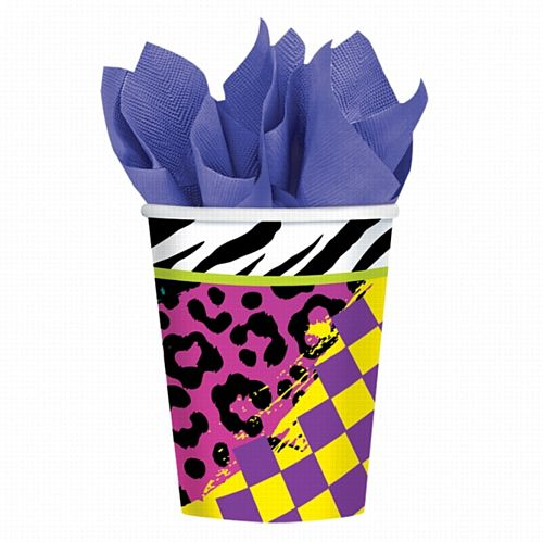 Radical 80s Paper Cups - 266ml - Pack of 8