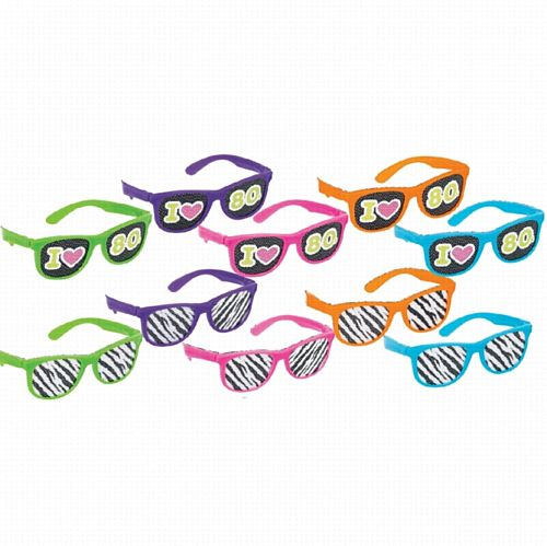 Radical 80s Glasses - Pack of 10