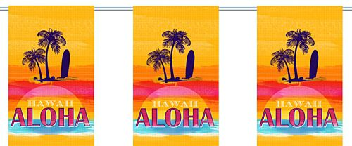 Tropical Sunset Small Flag Interior Bunting - 2.4m