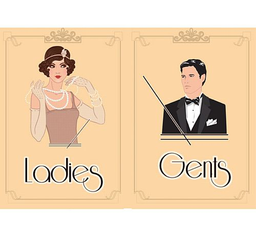 1920's Themed Toilet Signs - Ladies & Gents